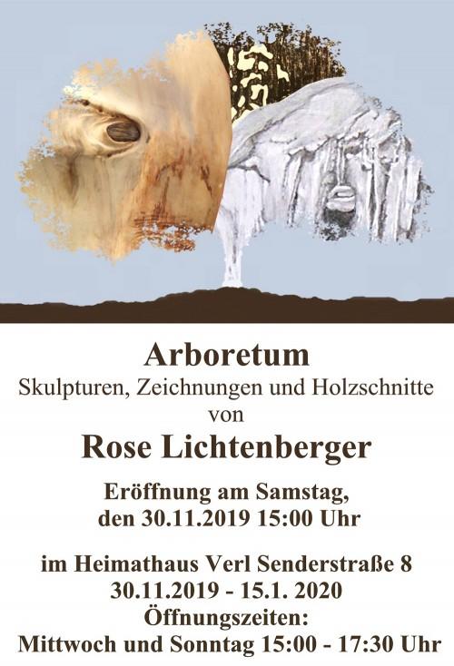 Abbildung: Arboretum –Skulpturen, Zeichnungen und Holzschnitte von Rose Lichtenberger