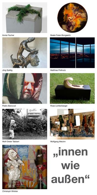 Abbildung: innen wie außen –Malerei, Zeichnung, Collage, Objekte, Skulptur und Fotografie