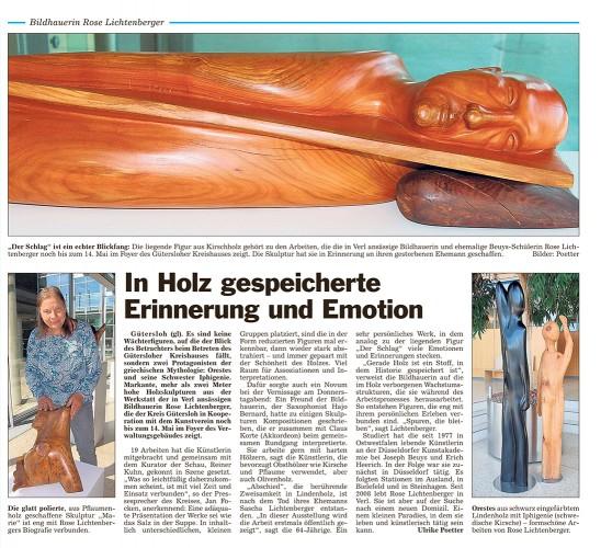 Abbildung: In Holz gespeicherte Erinnerung und Emotion