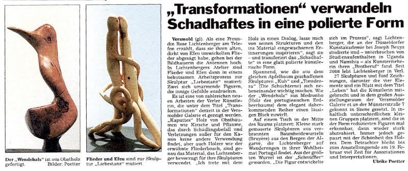Abbildung: »Transformationen« verwandeln Schadhaftes in eine polierte Form