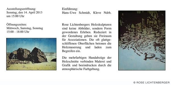 Abbildung: Skulpturen und Holzschnitte – Rose Lichtenberger